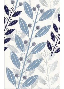 Dekor Lunia White Leaves 25x40