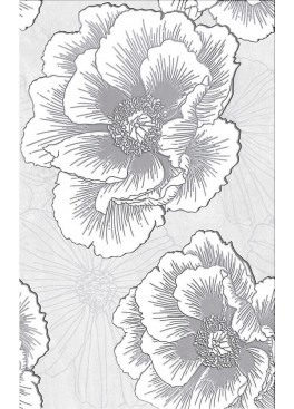 Dekor Ferrata Grey Flower 25x40