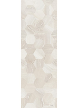 Obklad Rosario Relief Hexagon 25x75