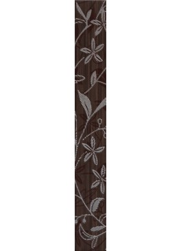 Listela Tanaka Brown Border Flower 5x40