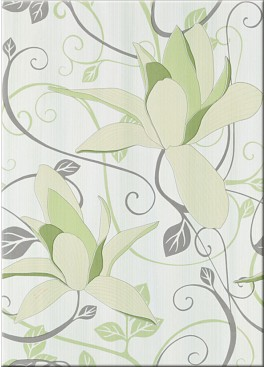 Dekor Artiga Light Green Flower 25x40